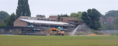 UCS Sports Pavilion under construction