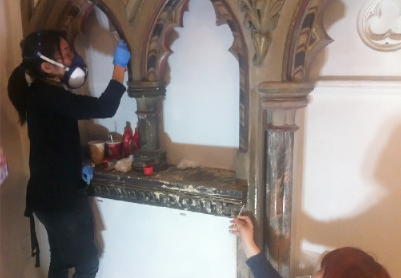 conservation at Christ Church, Clapham, London