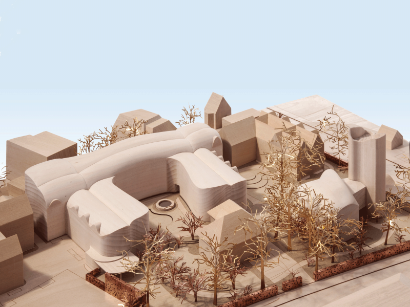 Model of New Quad by David Kohn Architects