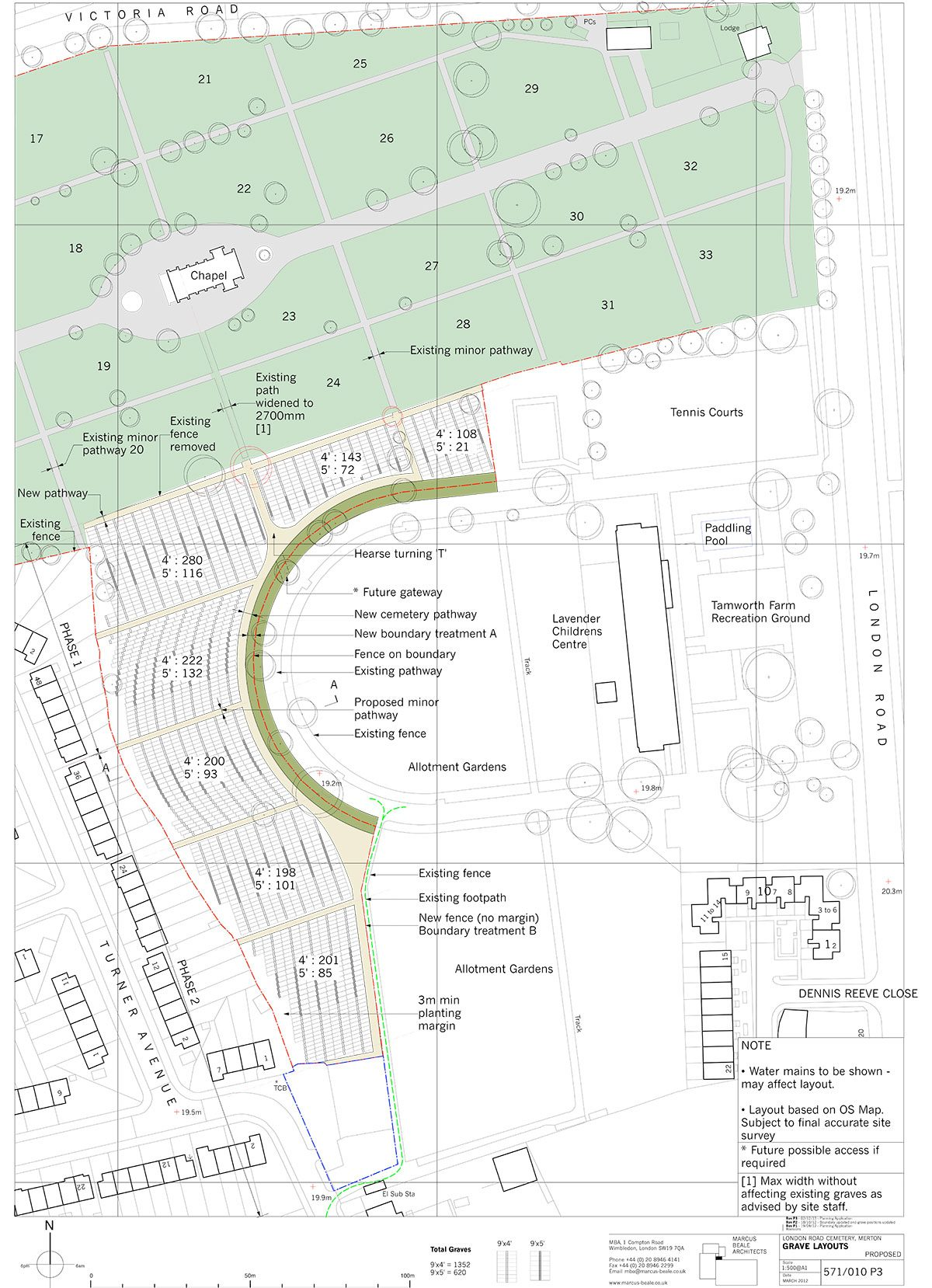 London Road Cemetery - Plan