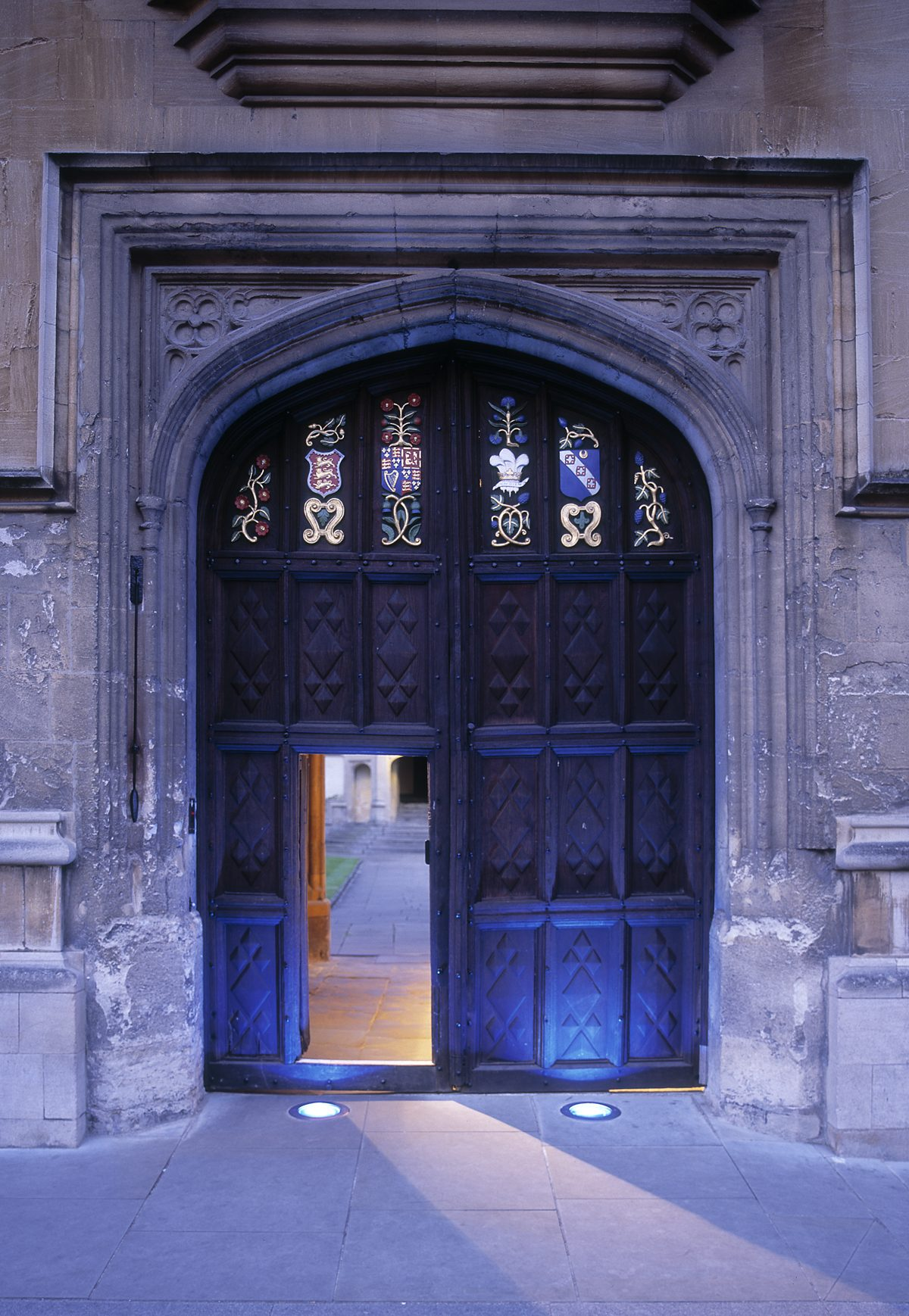 Oriel College - Porter's Lodge - Dusk