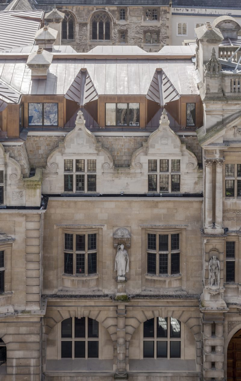 Rhodes Building, Oriel College,, Oxford - Exterior - Roof shot