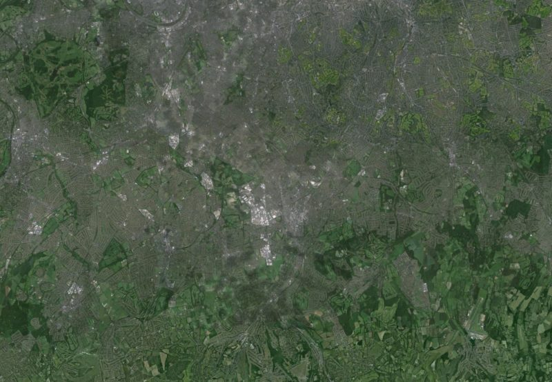 Wandle Valley, London - Satellite Map