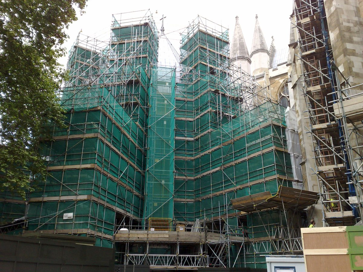 Westminster Abbey - Chapter House - Under Scaffolding
