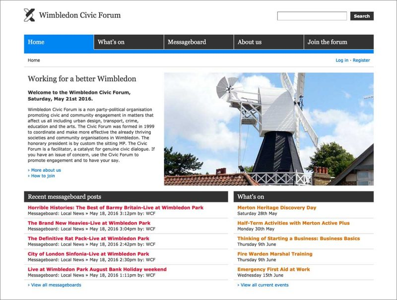 Wimbledon Civic Forum - Screenshot