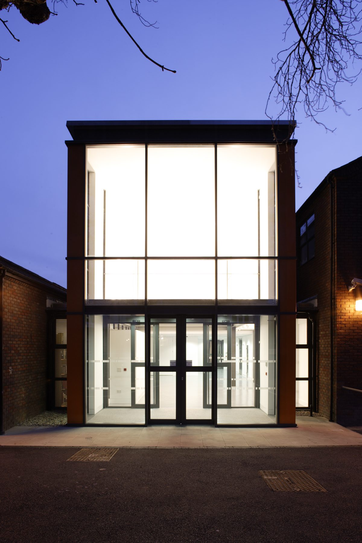 Wimbledon College of Art - Foyer - Exterior by night