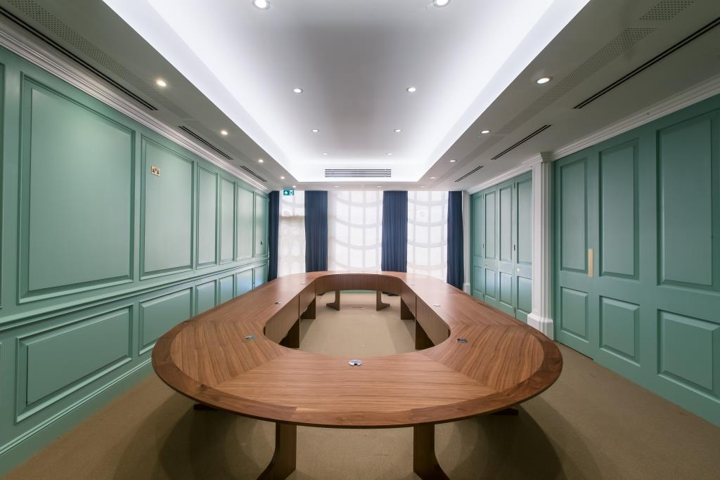 View of meeting room table