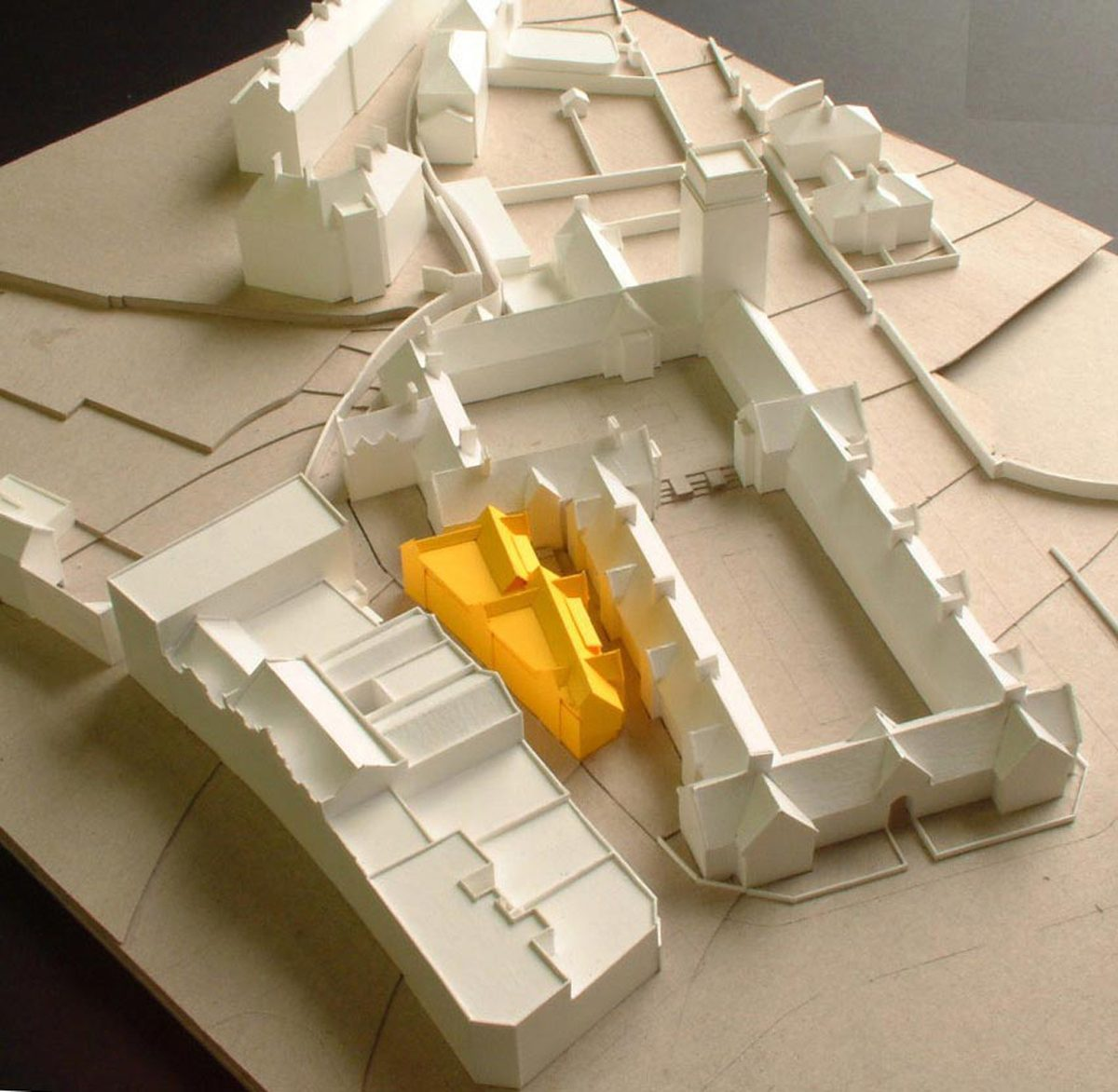 Nuffield College, Oxford - Halls of Residence - Model