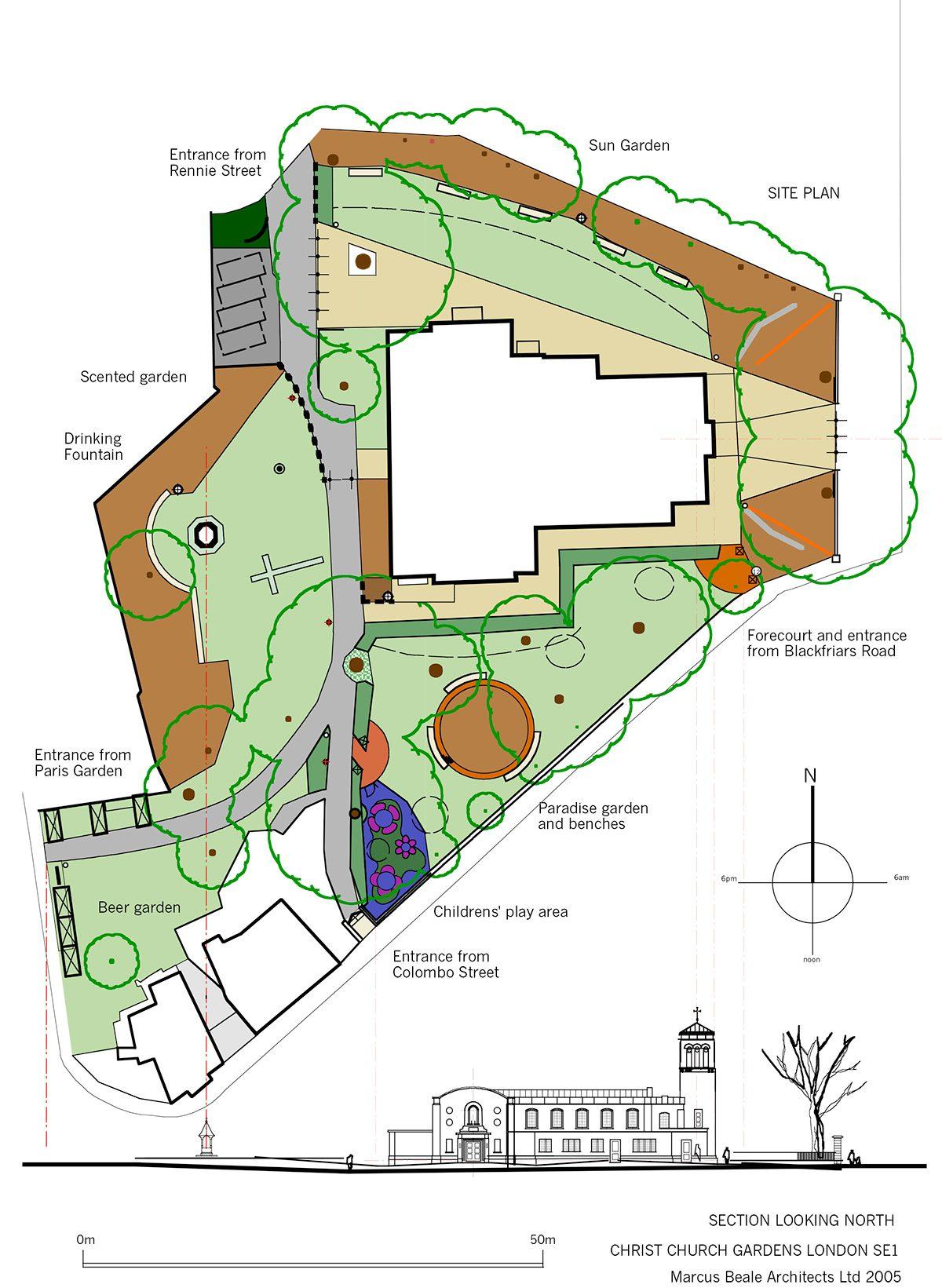 Christ Church Gardens - Site Plan