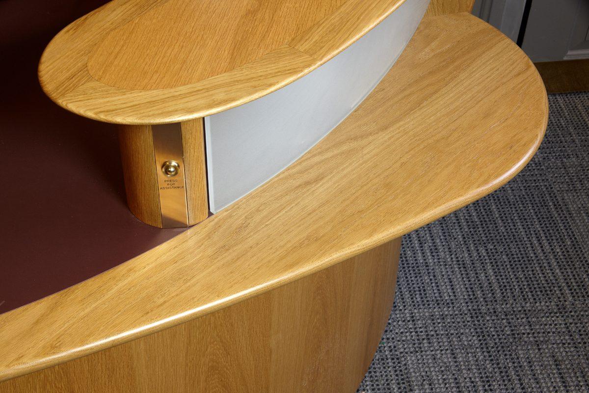 Pantin Library - Oriel College - Reception Detail