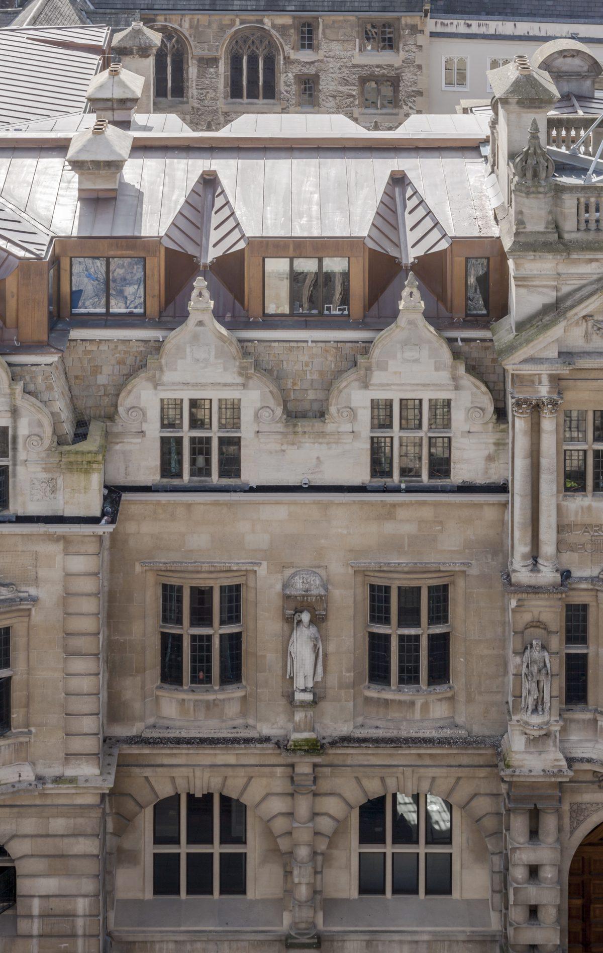 Rhodes Building, Oriel College,, Oxford - Exterior - Roof shot